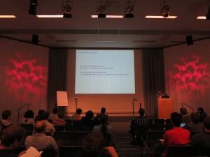 "François Bobot presenting ""Ephemerons meet OCaml GC"""