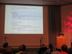 Mathias Bourgoin presenting SPOC